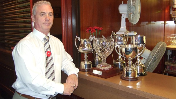 Local hero: Knightswood chairman lends a hand